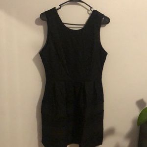 Women's black midi dress!